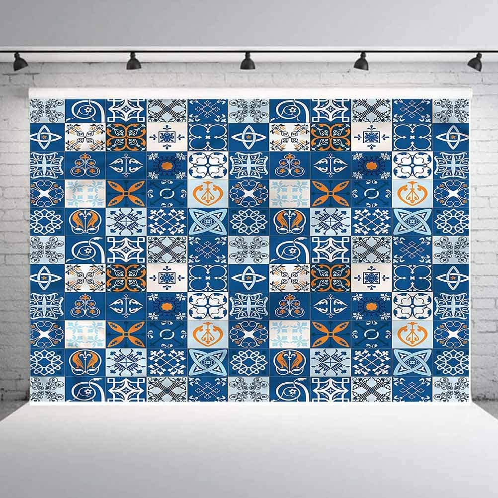 6x6FT Vinyl Photo Backdrops,Patchwork,Europe Folkloric Symbols Photo Background for Photo Booth Studio Props