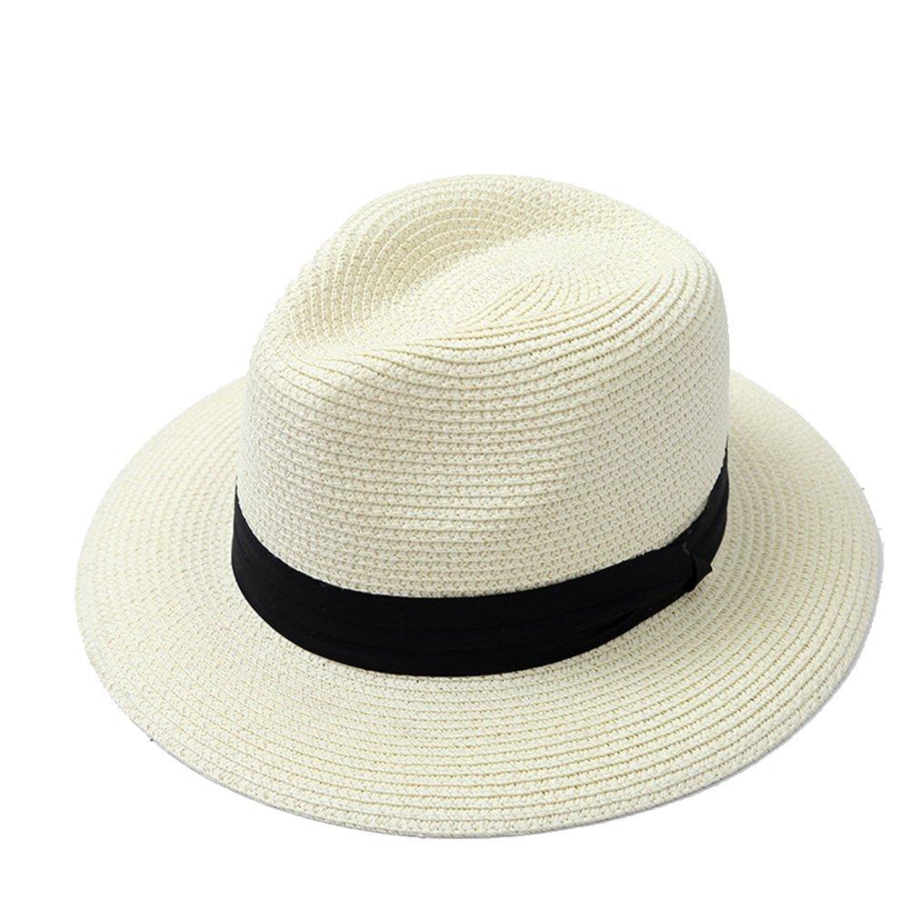 Leisial Unisexe Chapeau de Jazz Chapeau Panama Chapeau de Visière ... 5da0523d2da