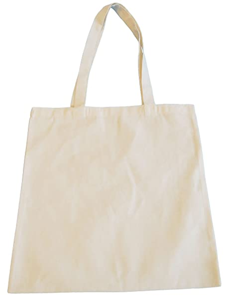 b39d3af86 10 NATURAL COTTON TOTE BAG - CHOOSE YOUR QUANTITY: Amazon.co.uk: Kitchen &  Home