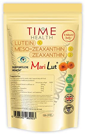 MariLut ® 10mg Lutein - 10mg Meso-zeaxanthin - 2mg zeaxanthin – 4 Month  Supply