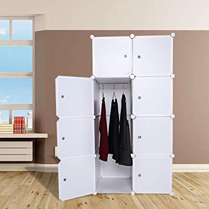 Merveilleux Portable Clothes Closet Wardrobe, Combination Cube Armoire Cabinet Storage  Organizer With Doors DIY Bedroom Book