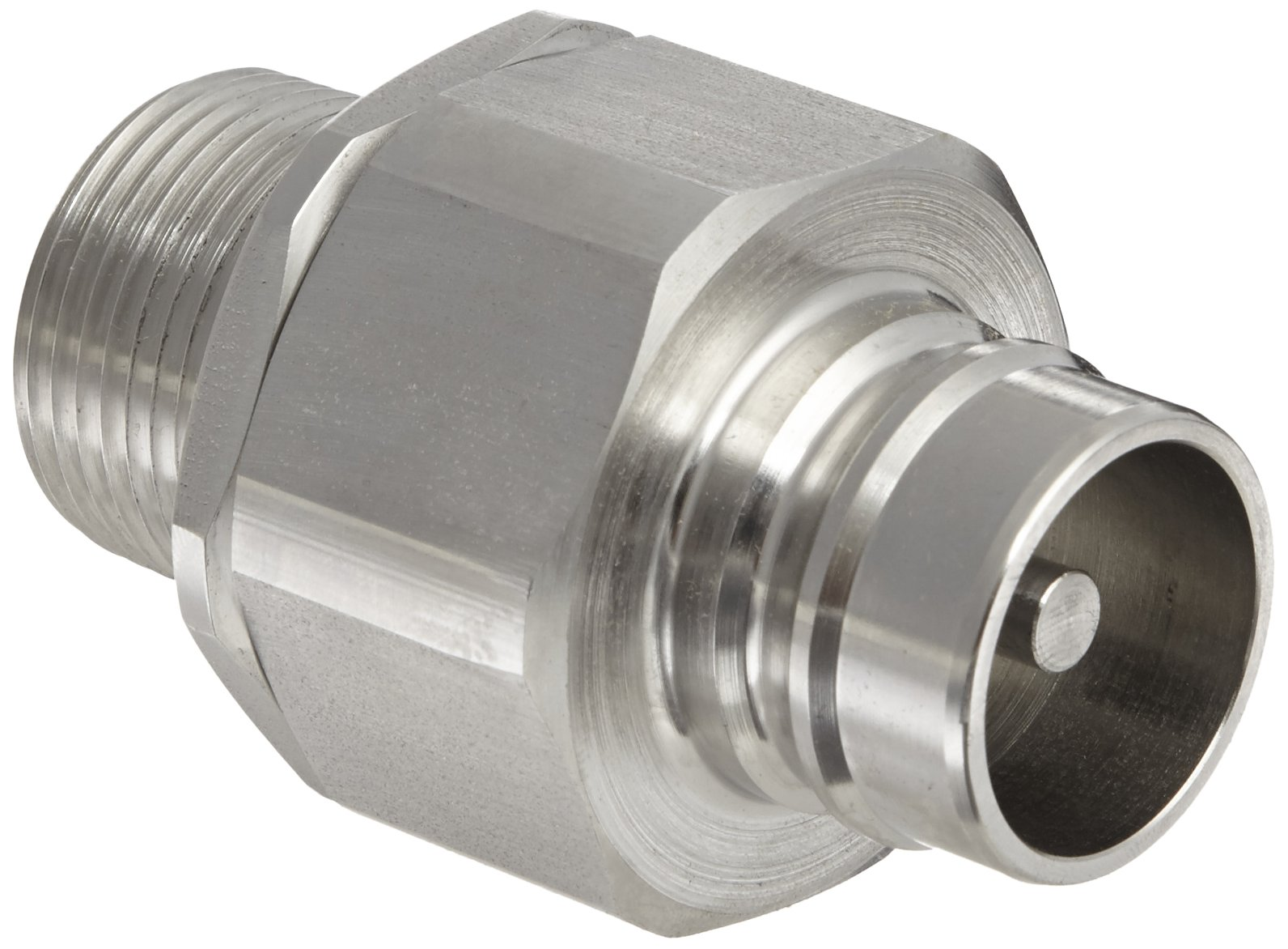 Snap-Tite SVHN16-16M Stainless Steel 316 H-Shape Quick-Disconnect Hose Coupling, Nipple, 1'' NPTF Male x 1'' Coupling Size