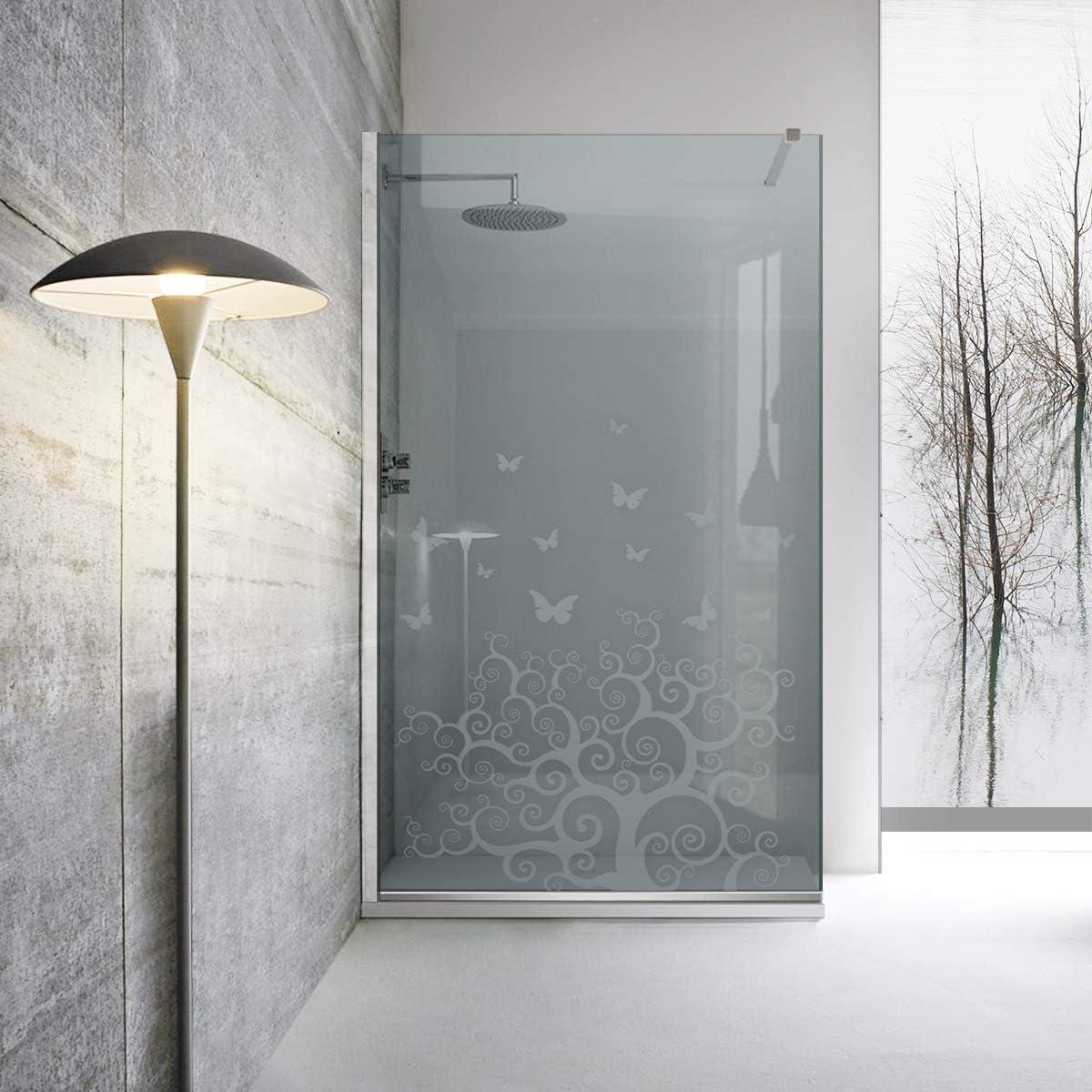 Modern Glass Art Leroy - Mampara de ducha (cristal templado de 8 mm, revestimiento nano, acero inoxidable SS304), transparente: Amazon.es: Bricolaje y herramientas
