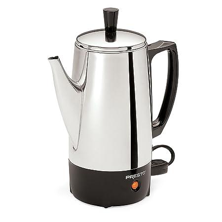 Presto Cafetera eléctrica de acero inoxidable de 12 tazas: Amazon ...
