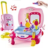 Pretend Play Girls KDS Beauty Salon Set with Realistic Mirror and Accesories Play Set with Fashion & Makeup Accessories for Girls