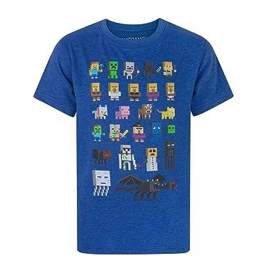 814dcf8e4e6b7 Minecraft Sprites Boys White T-Shirt  Amazon.fr  Vêtements et ...