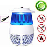 givision Mosquito Trap Killer Lamp Fly Trap Electric Bug Catcher Control with Bulb Light Covers 600 Sq Ft w/USB Fan Garden Patio Yard (Gray)