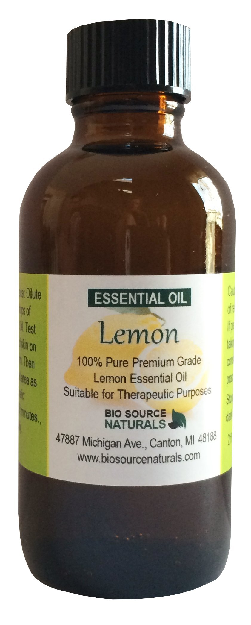 Lemon (Citrus limonum) Pure Essential Oil from Italy 4 fl oz / 120 ml - with COA - Therapeutic Quality, 100% Pure, Undiluted, Concentrated