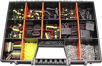 AMP Sael 2,8 Stecker Servicekoffer Sortimentskasten Sortiment Superseal Set