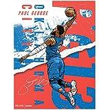 500 LEVEL Paul George Oklahoma City Basketball Wall Poster Paul George City Tear