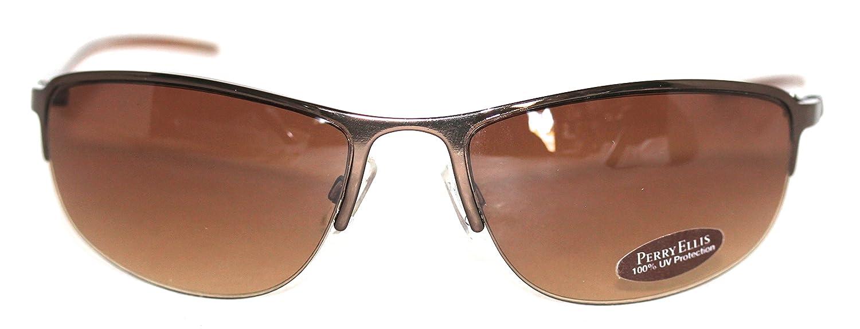 Perry Ellis para hombre parte inferior sin montura Metal gafas de ...