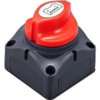 Spurtar Interruptor de Batería 6V-48V DC Interruptor del Aislador Batería Universal Interruptor Desconexión de Batería…
