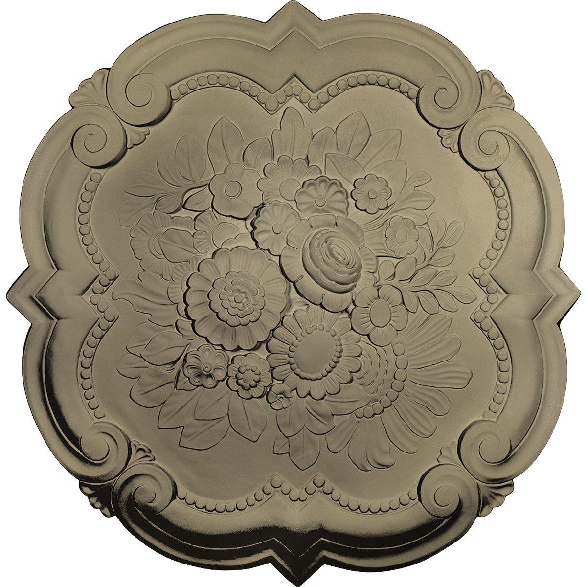 Ekena Millwork CM24VIGDF Victorian Ceiling Medallion, 24 3/8'' OD x 1'' P, Gobi Desert