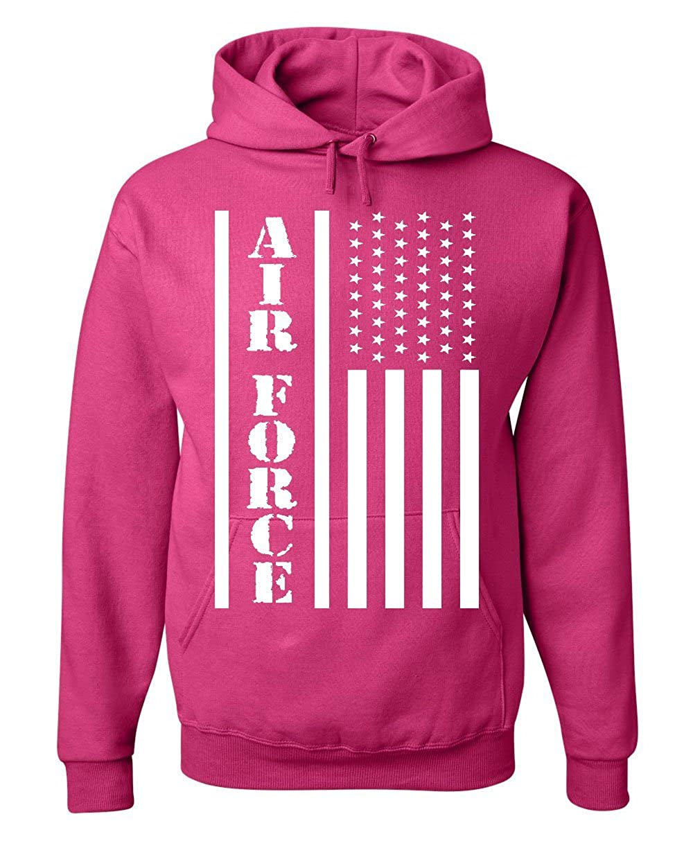 save off 5549f 195fd Tee Hunt Air Force Flag Military Hoodie Patriot Veteran Stars & Stripes  Sweatshirt