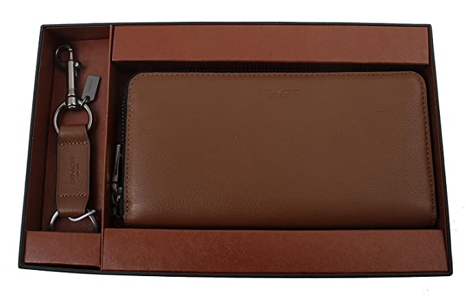6131b88988eaa Coach Accordion Wallet in Sport Calf Leather Gift Set in Dark Saddle,  F58928 CWH: Amazon.co.uk: Clothing