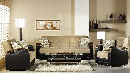 Tremendous Amazon Com Luna 2 Pc Living Room Set In Fulya Brown Sofa Download Free Architecture Designs Ferenbritishbridgeorg