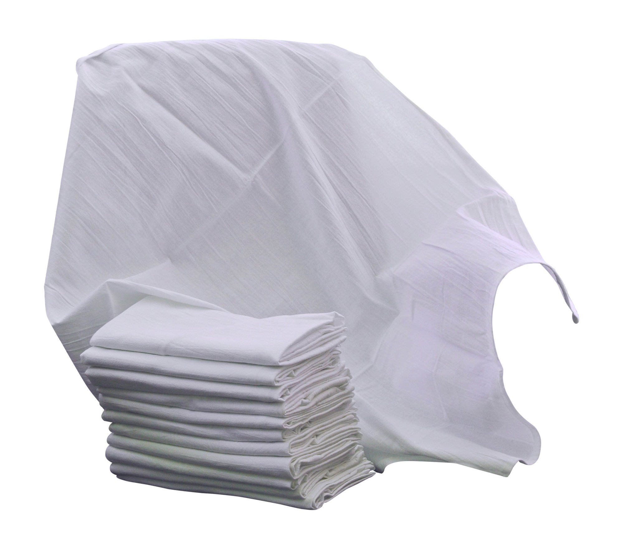 Flour Sack Kitchen Dish Towels 100% Pure Cotton Durable 28X28 Bleached Low Lint Fast Drying Commercial Grade (12)