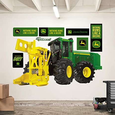 John Deere 643K Feller Buncher Wall Decal 78 X 43in