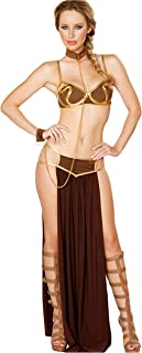 Tankoo Sexy Costume Princess Leia Slave Miss Manners Uniform  sc 1 st  Amazon.com & Amazon.com: Star Wars Jabbau0027s Prisoner Princess Leia Costume: Clothing