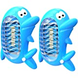 WILDJUE Bug Zapper Electronic Insect Killer [2 Pack] Electronic Plug Mosquito Killer Lamp,Eliminates Most Flying Pests! Night Lamp(Blue)
