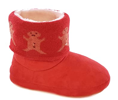 0a6d4062b00 SlumberzzZ Womens LED Light-Up Christmas Boot Slippers  Amazon.co.uk ...