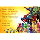 kids fancy dress 2 party invitations invites click customize now