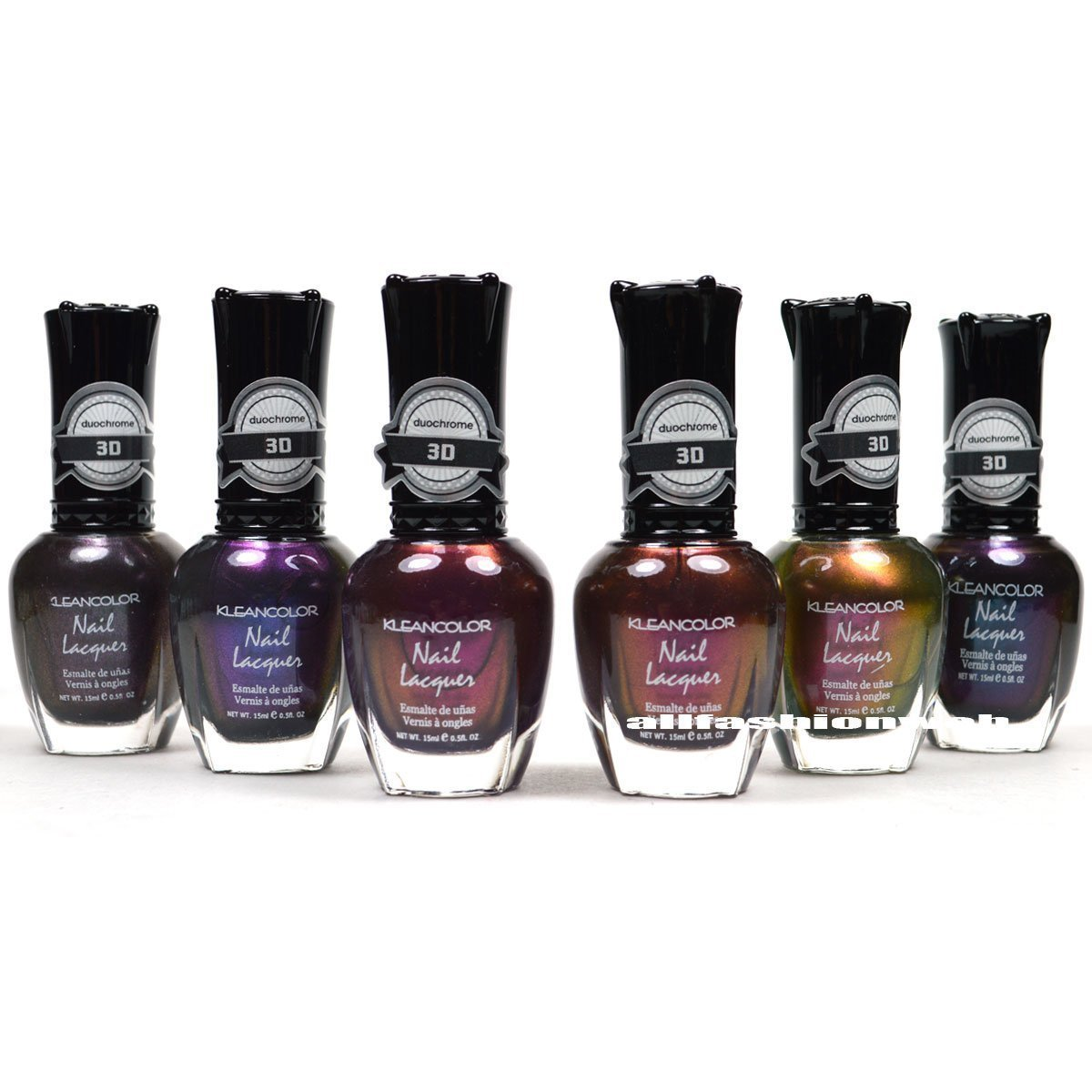 Amazon.com : New Kleancolor 3D Duochrome Nail Polish Set of 6 ...