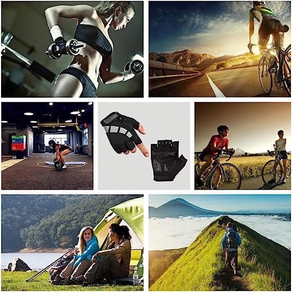 Nesirooh Guantes MTB Hombre y Mujer, Guantes Ciclismo Verano Gel Medio Dedo para Bicicleta Montaña Bici Gimnasio: Amazon.es: Deportes y aire libre