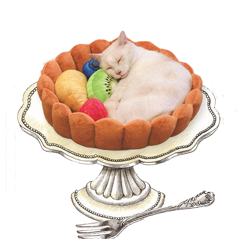 Xinjiener Fashion Pet Cushion Bed Winter Plush Nest Kennel Lovely Tart Warm Comodo Dog Mat Pad Cat Mat
