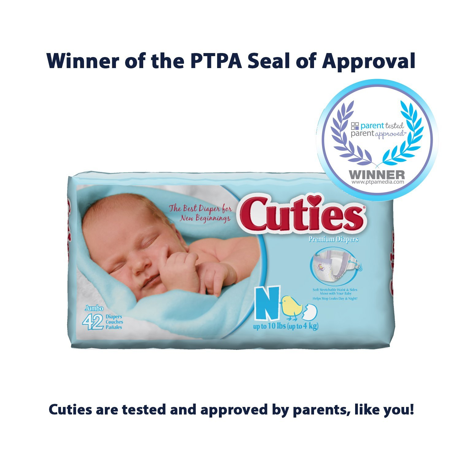 Amazon.com: Prevail Cuties Baby Diapers Size 4, 22-37 lbs. [Bag of 31] by First Quality: Health & Personal Care