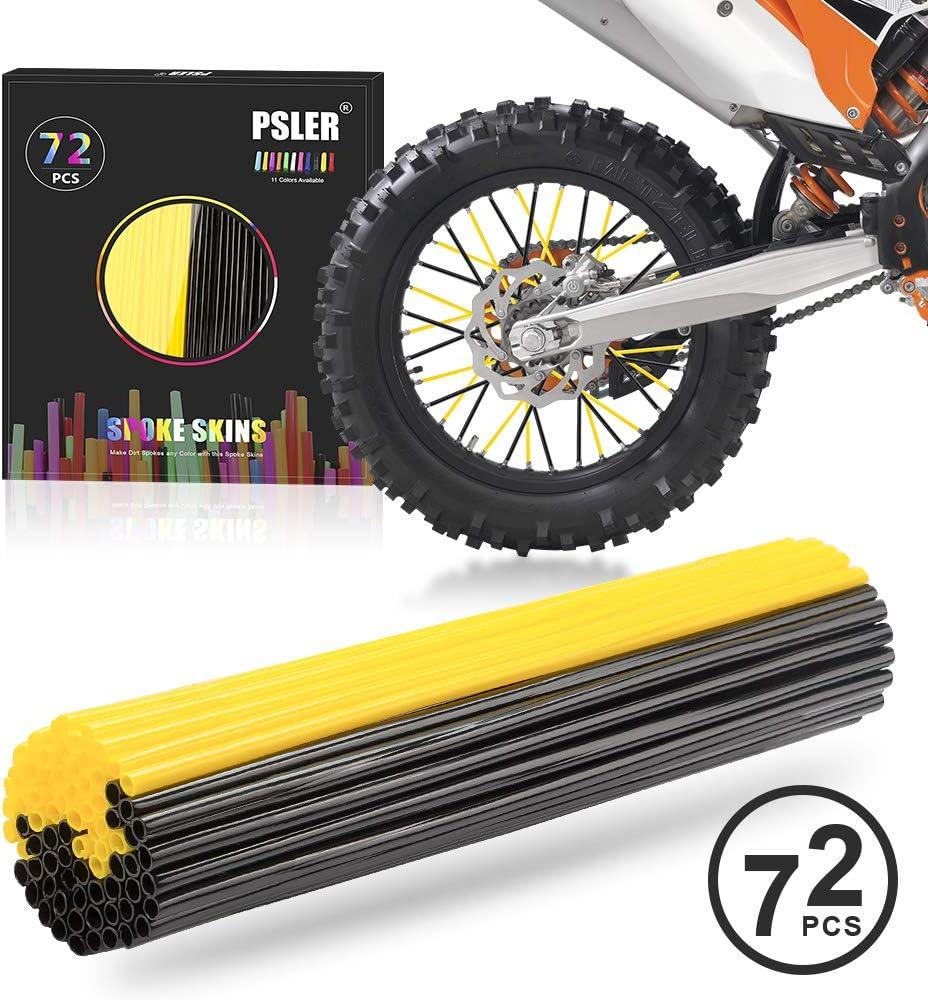 72 pcs Bike Spoke Skins Black Universal Motocross Wheel Rims Spoke Skins Covers Motorcycle Spoke Skins