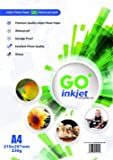 100 Sheets A4 230gsm Photo paper: Very glossy white and waterproof photo paper, compatible with inkjet and photo printers by GO Inkjet