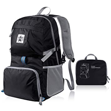0275e59962f6 Gemeer Ultra Lightweight Packable Backpack for Men Women Water Resistant  Hiking Daypack Foldable Travel Camping Outdoor Backpack  Amazon.co.uk   Sports   ...