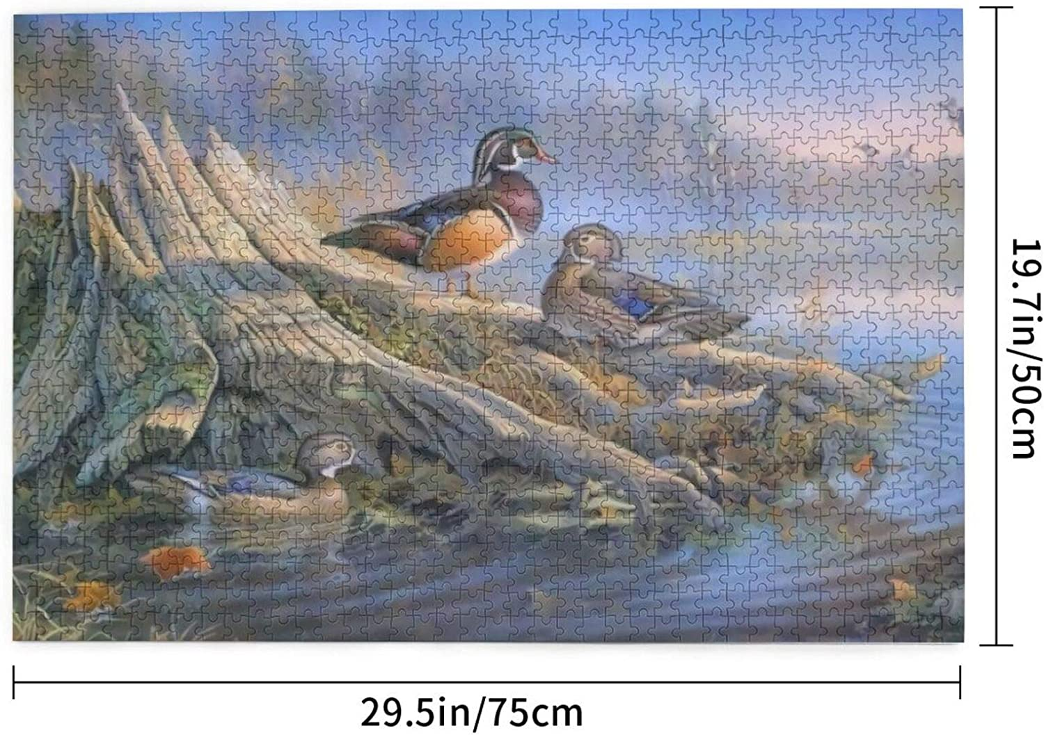 antcreptson Wood Duck Old Tree Lake Animal 1000 Piece Puzzles for Adults and Teen DIY Collectibles Home Decoration