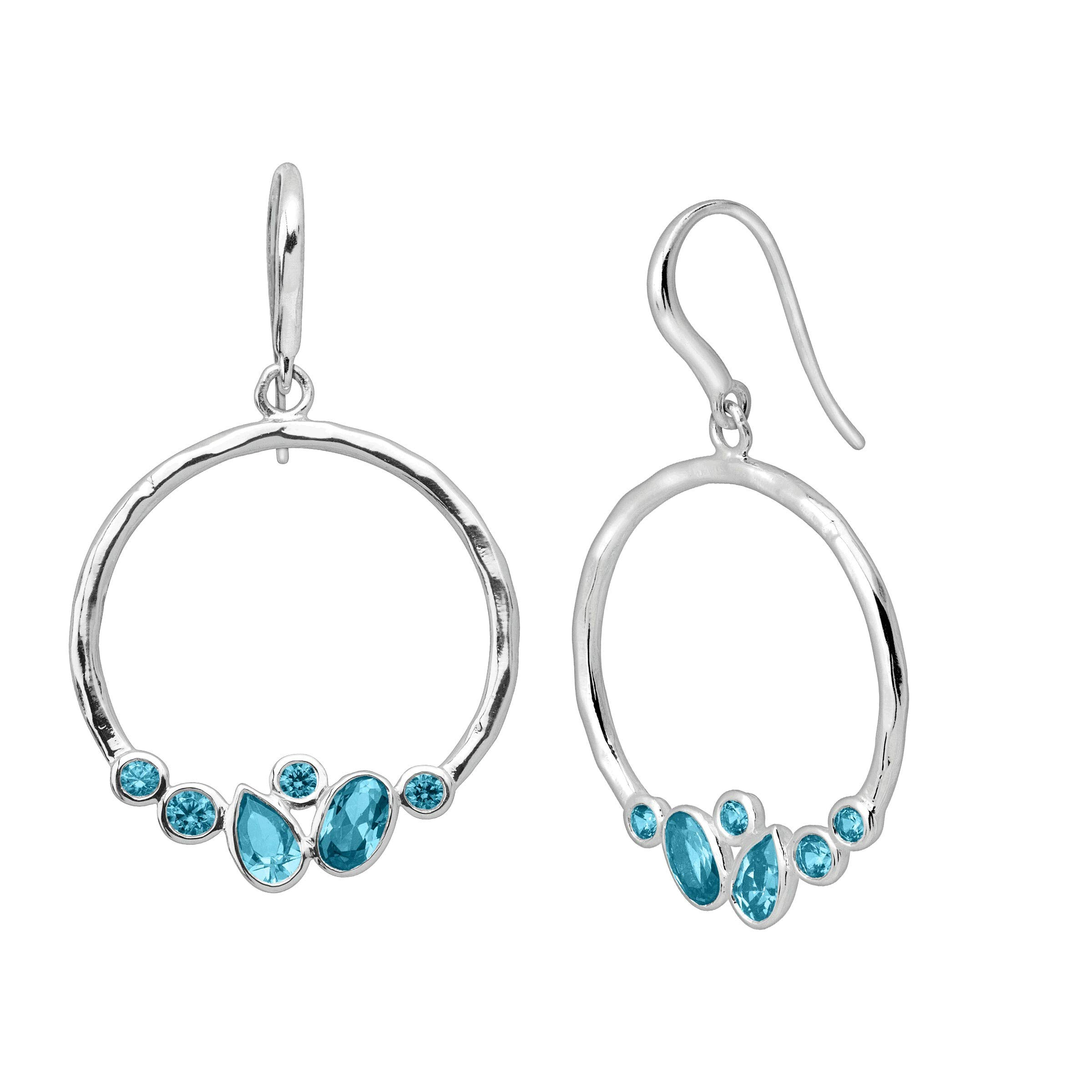 Silpada 'Blue Valley' Natural Aquamarine Drop Earrings in Sterling Silver by Silpada