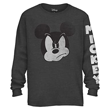 cb99738f1cb Amazon.com  Mad Mickey Mouse Graphic Classic Vintage Disneyland World Men's  Adult Long Sleeve T-Shirt  Clothing