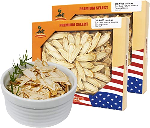 DOL American Ginseng Slice 4oz Box 2Boxs from Wisconsin Sliced Ginseng Root 113g Box