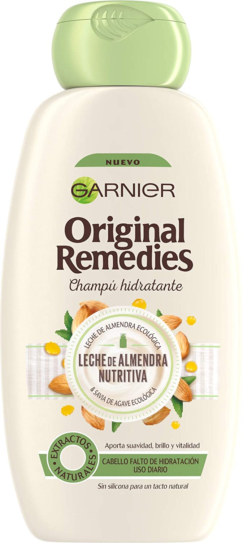 Garnier Original Remedies - Champú Leche de Almendra - Pack de 6 x 300 ml (Total: 1800 ml)