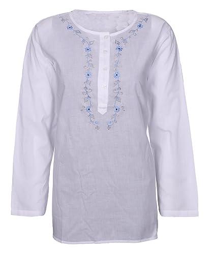 Lets Shop Shop - Camisas - Túnica - con botones - para mujer