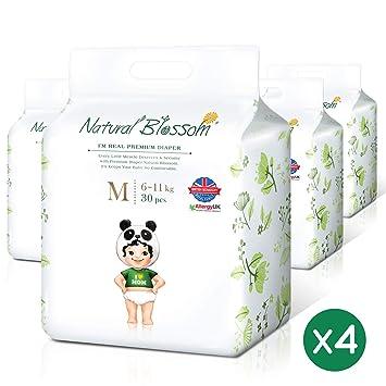 Amazon.com: Natural Blossom - Pañales desechables para bebé ...