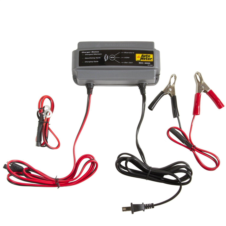 Amazon.com: Auto Meter BEX- 3000 BEX Series 3.0 Amp Battery Charger ...