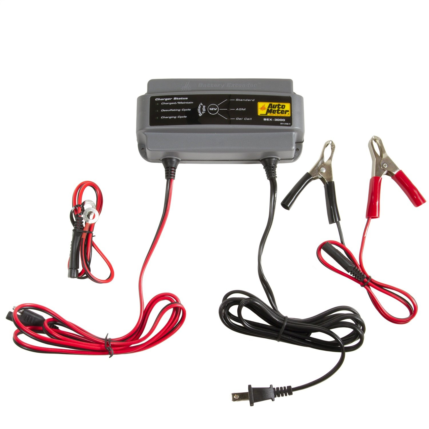 Auto Meter BEX- 3000 BEX Series 3.0 Amp Battery Charger/Maintainer