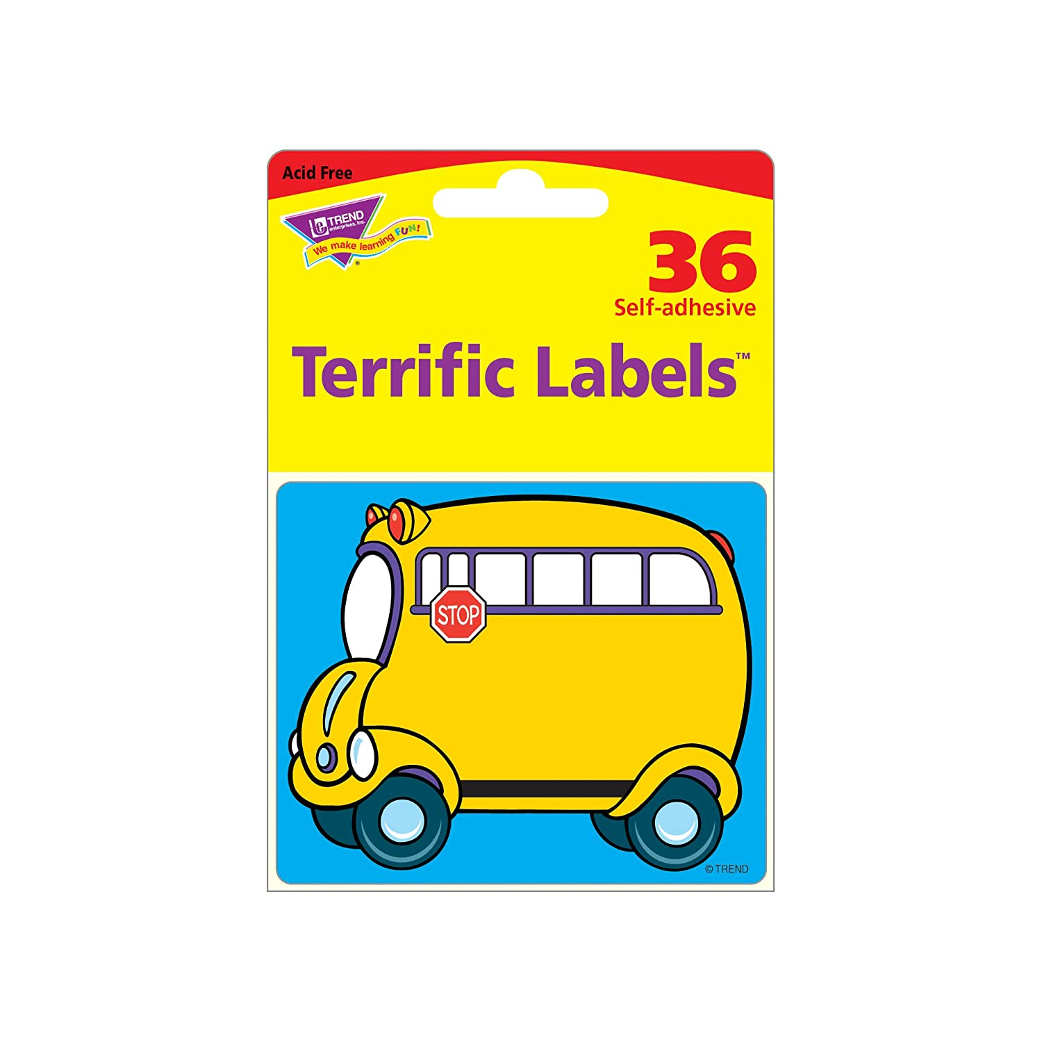 TREND ENTERPRISES INC T-68001 NOM DE L-COLE TAGS bus 36 PACK: Amazon.es: Juguetes y juegos