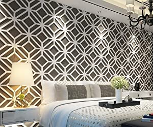 HomeArtDecor | Modern 3D Wall Panels | 3D Tiles | High Quality Polyvinyl Chloride | Office Decoration | Home Decoration | Easy to Apply | Fretwork | Lattice