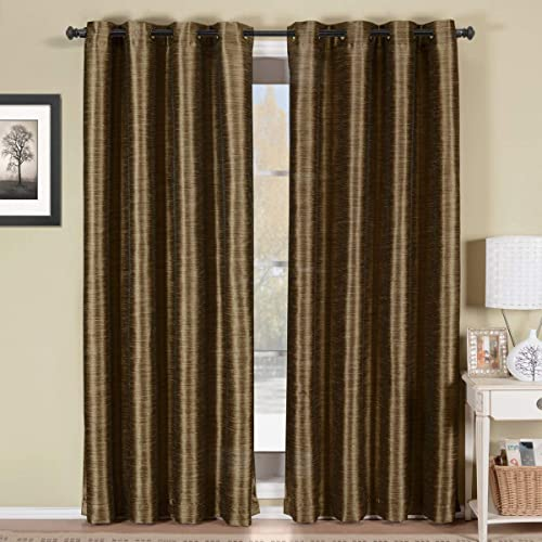 Royal Hotel Geneva Multi-Layer Coffee Grommet Blackout Window Curtain Panel