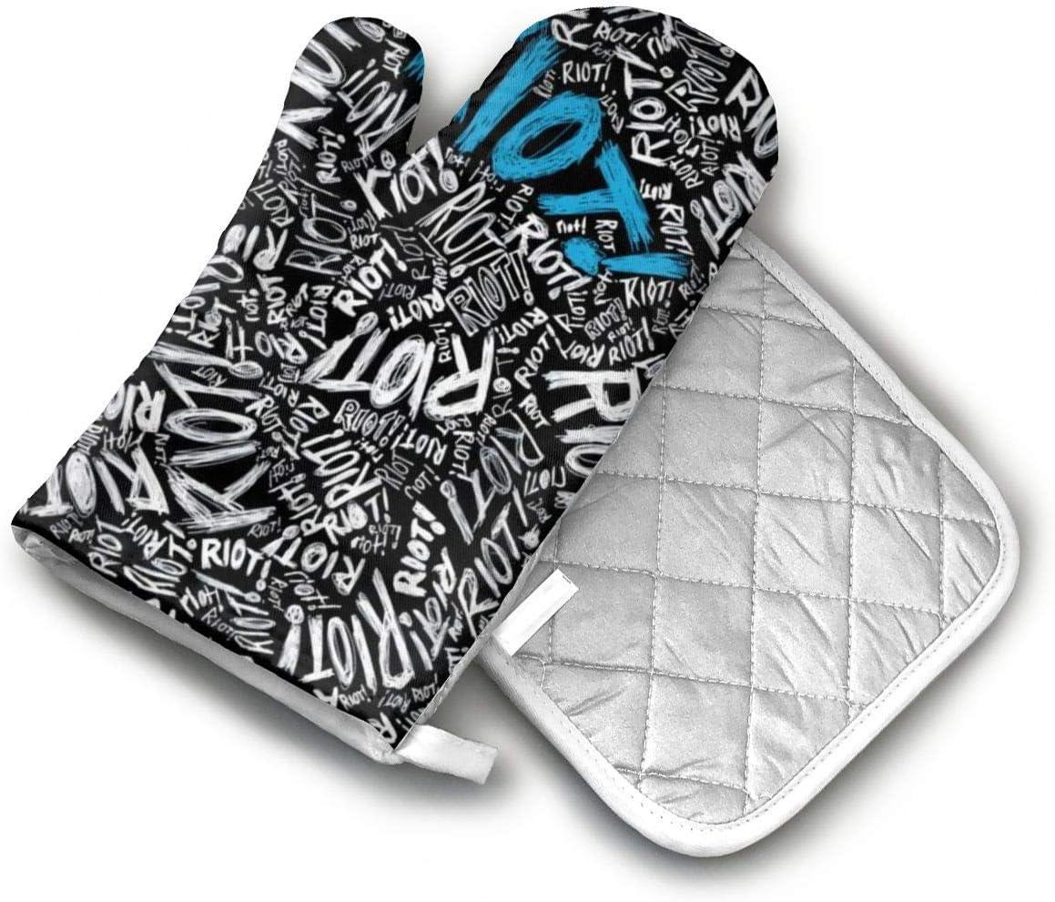 TEDISMC Oven Mitts and Potholder Zebra Art Design Pattern Heat Resistant Oven Gloves Non-Slip Oven Pad for Cooking
