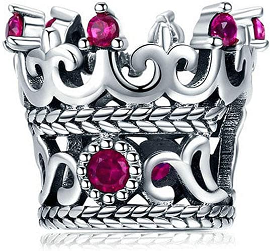Evereena Silver Beads Bracelet for Girls Fashion Blue Luminous Murano Glass Womens Jewelry