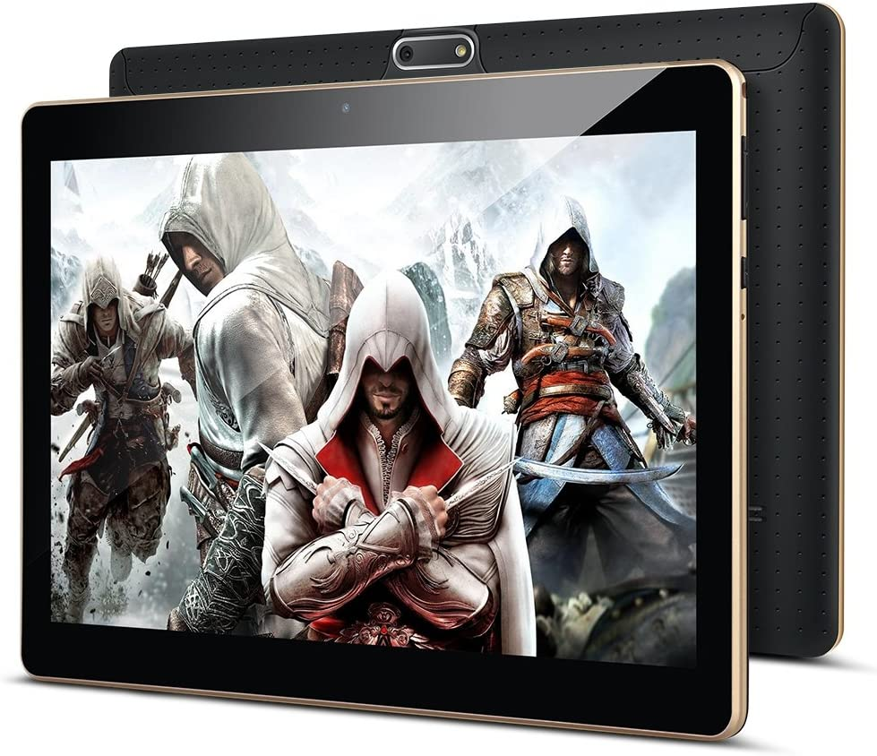Padgene 10.1'' Android 8.0 Oreo Tablet PC Quad Core Phablet con 2GB RAM 32GB ROM Ranuras para Tarjetas Dual Sim 3G 1280*800 con WiFi Bluetooth GPS Netflix Google Play (10.1'' 2GB / 32GB, Negro)