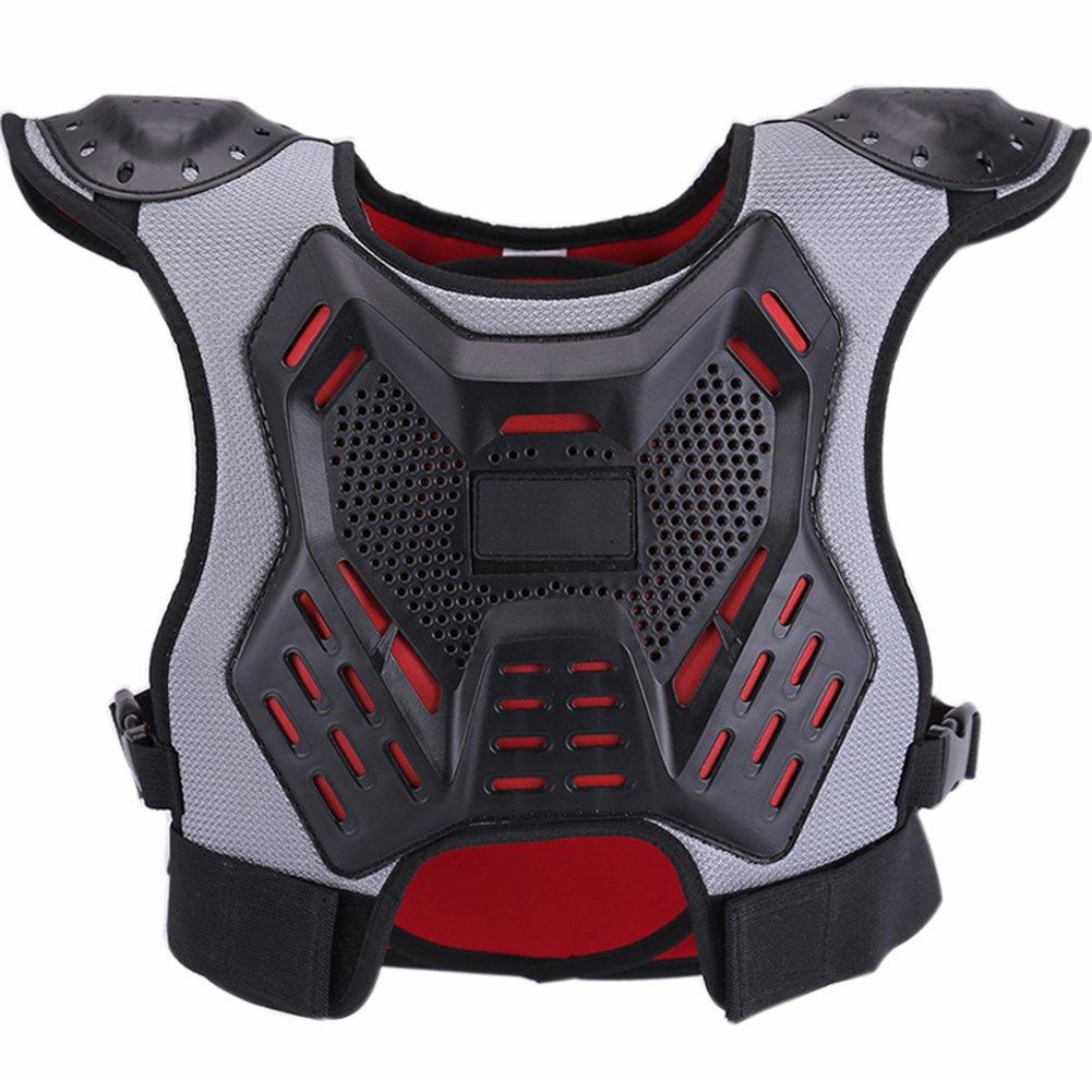 ZZ Lighting Kids Chest Protector Body Armor Vest Protective Gear for Dirt Bike Snowboarding Motocross Skiing, M 20