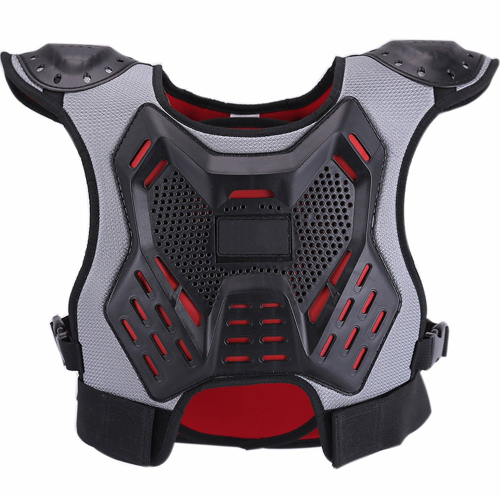 ZZ Lighting Kids Chest Protector Body Armor Vest Protective Gear for Dirt Bike Snowboarding Motocross Skiing, M